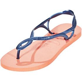 havaianas Luna - Sandales Femme - rouge/bleu